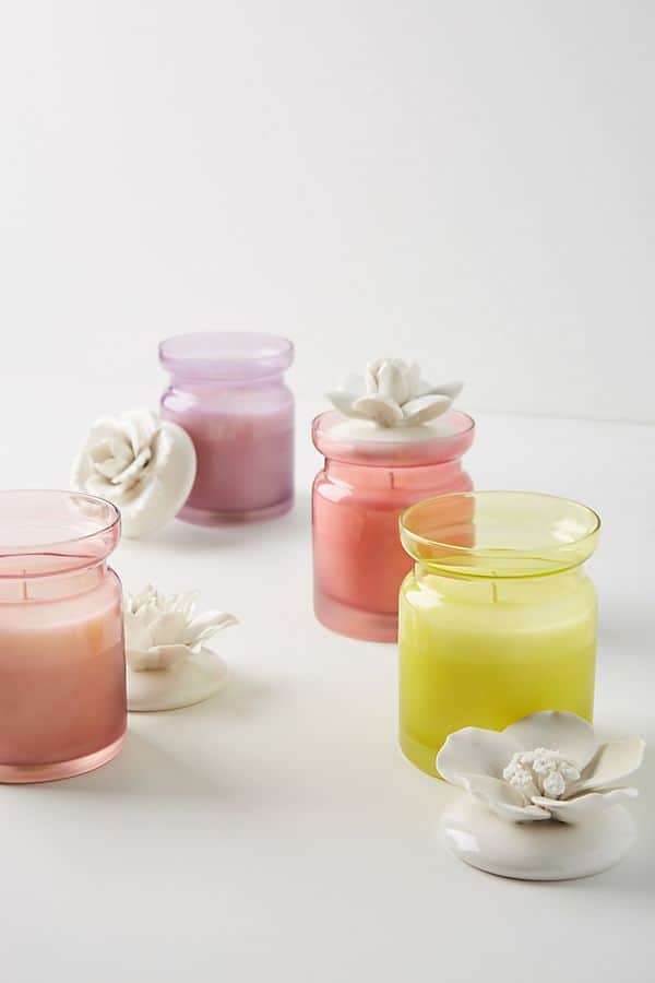 Spring's Eden Ceramic Flower Candle