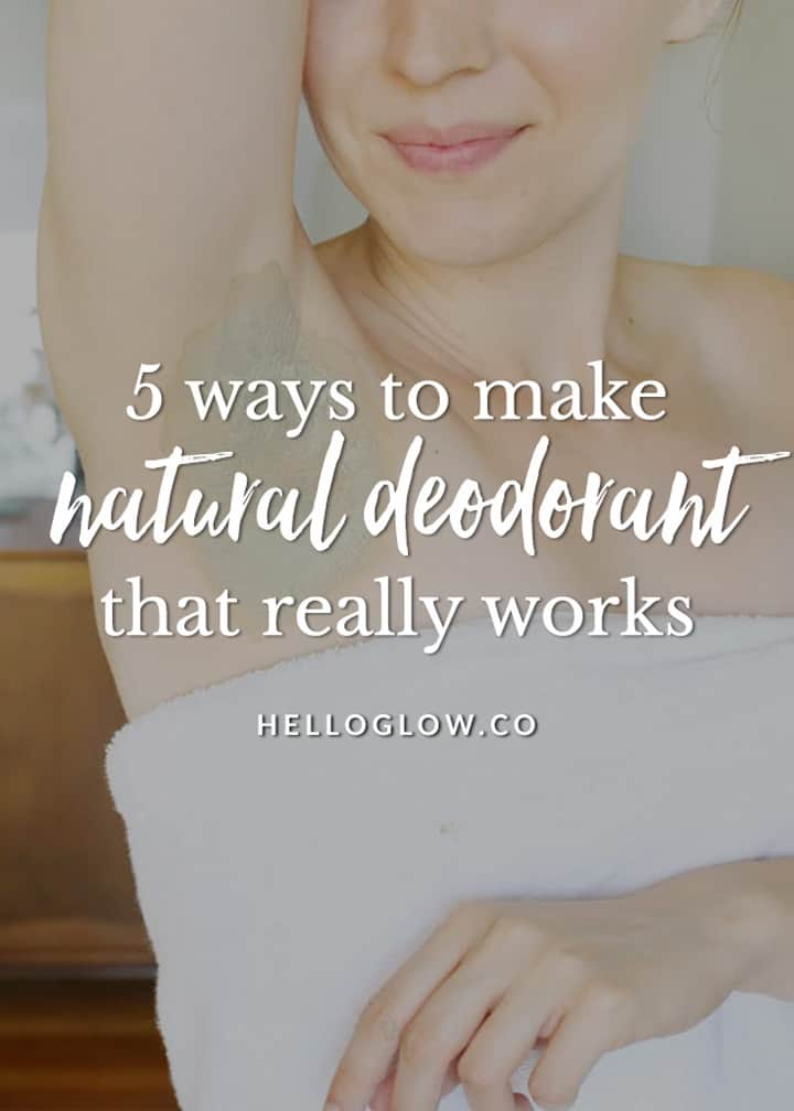 5 Ways to Make Natural Deodorant