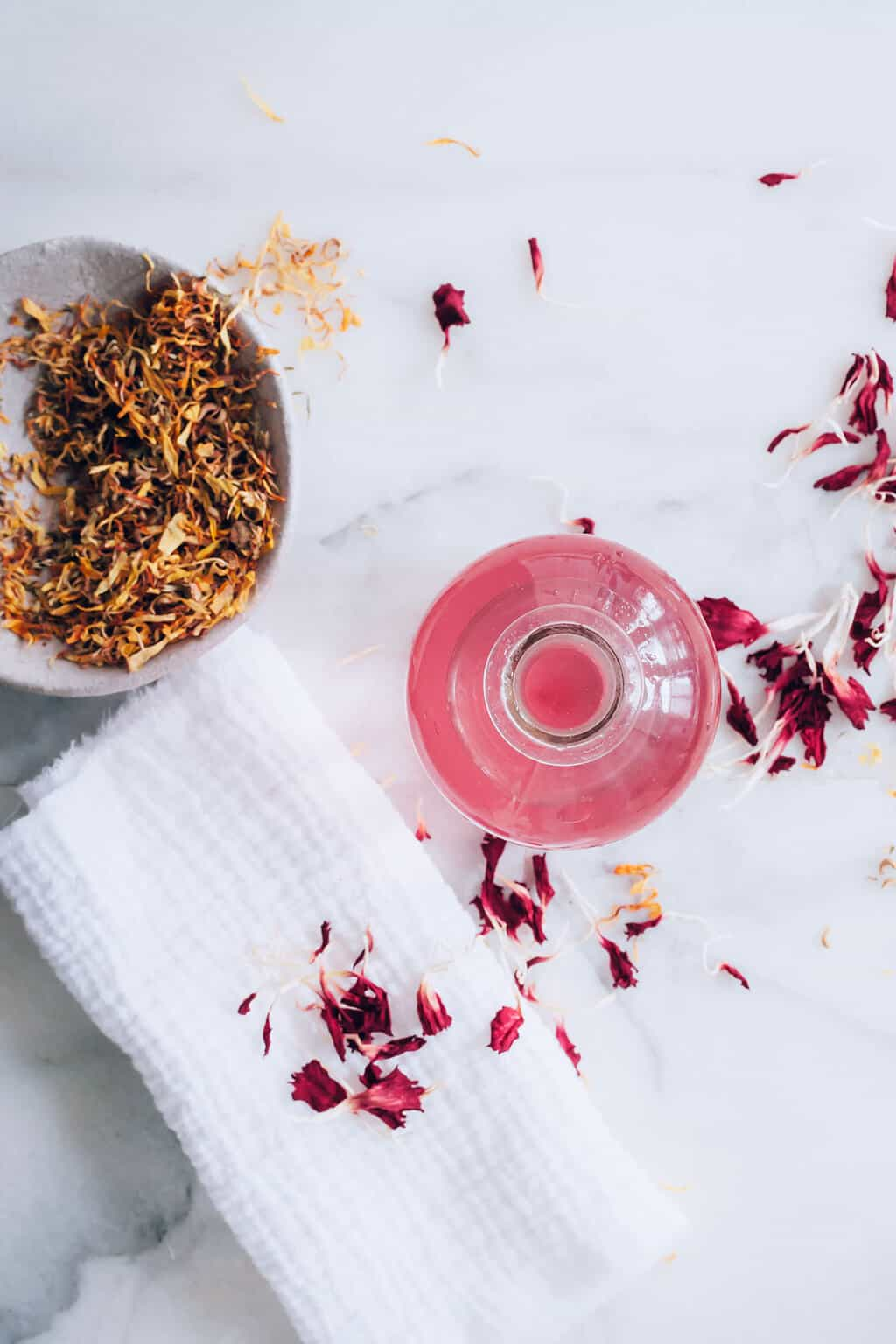 Fight sun damage: hibiscus tea toner with witch hazel