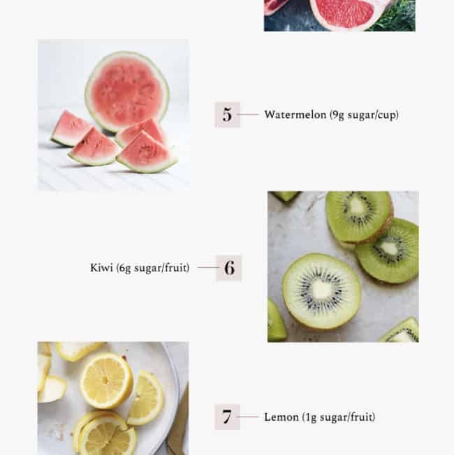 10 Low Sugar fruit Options - Hello Glow