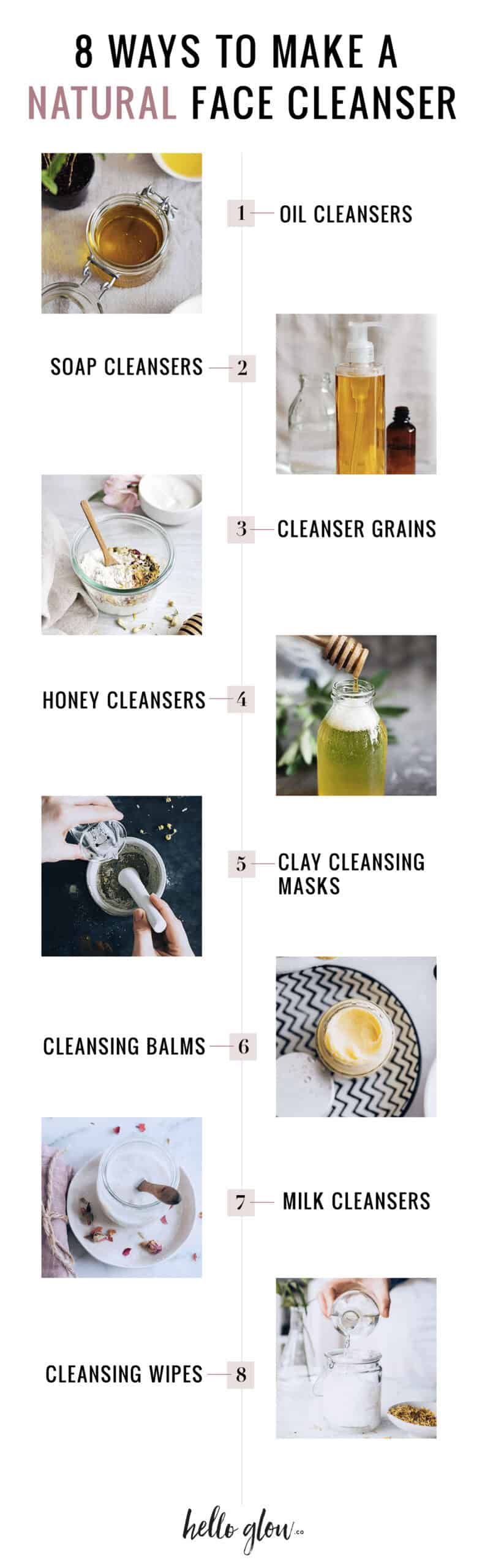 8 Ways to Make a Natural Face Cleanser