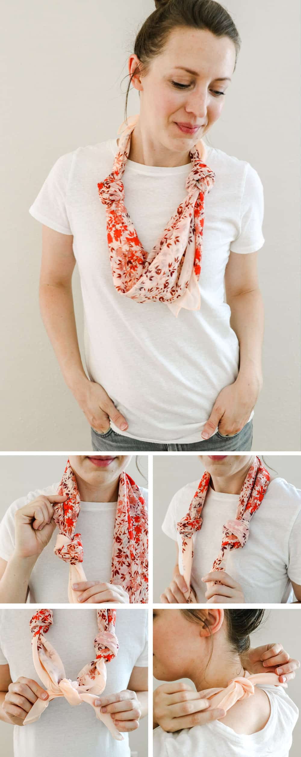 Knotted Necklace | 19 Ways to Tie a Scarf