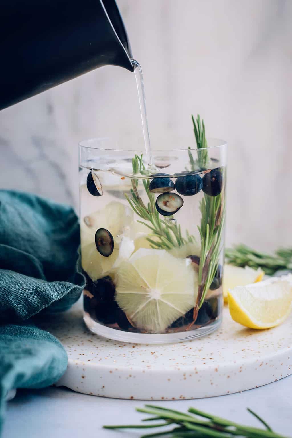 Blueberry Lemon Rosemary Infused Water