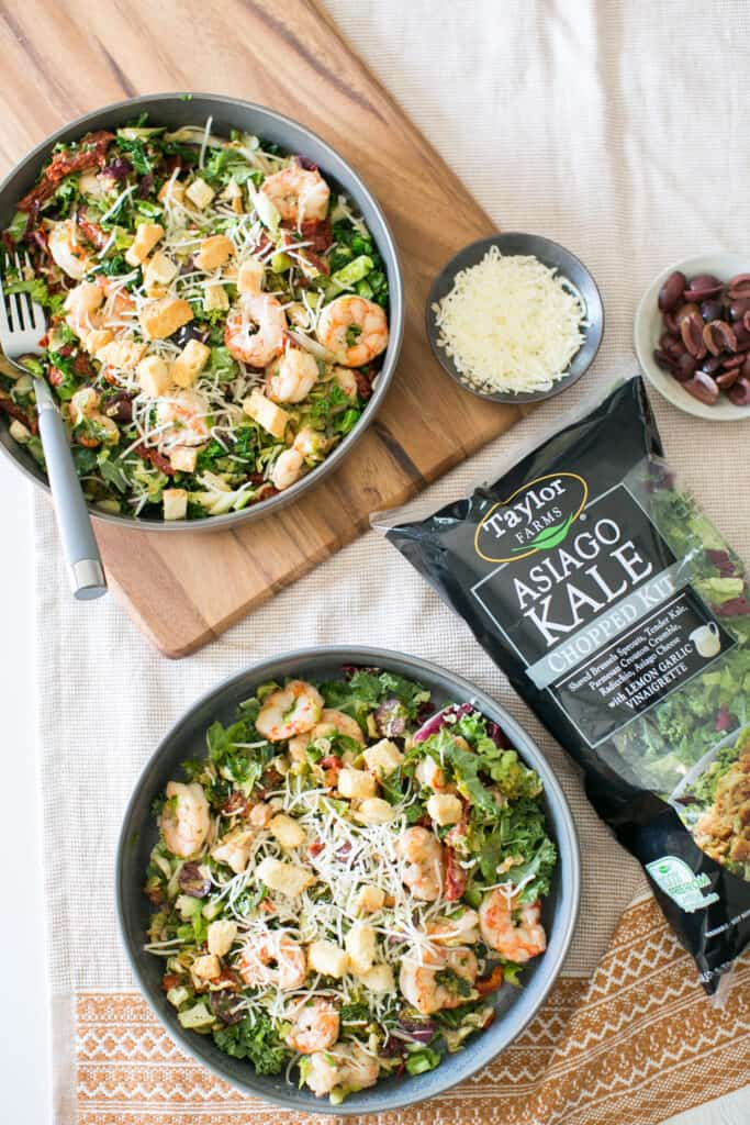 Asiago Kale Salad with Taylor Farms