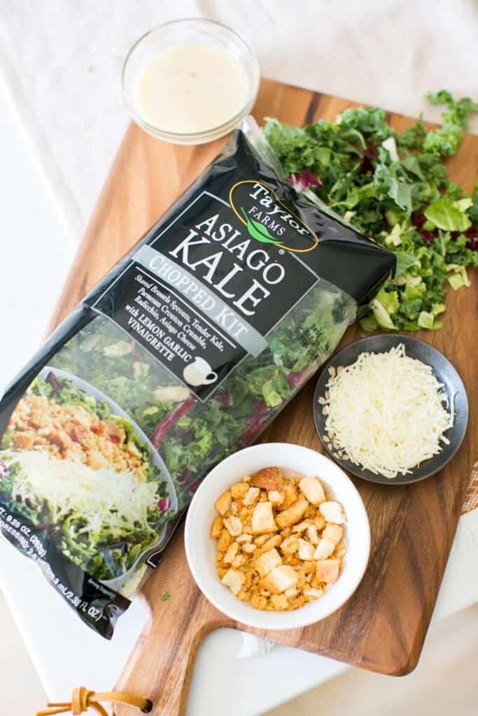 Warm Asiago Kale Salad