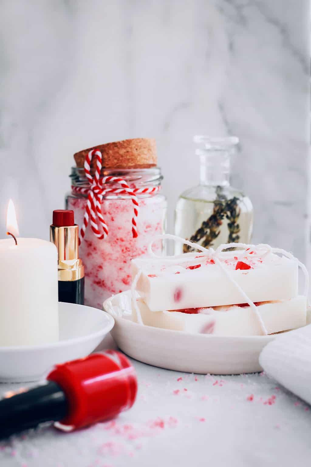 DIY Peppermint Beauty Gift Basket