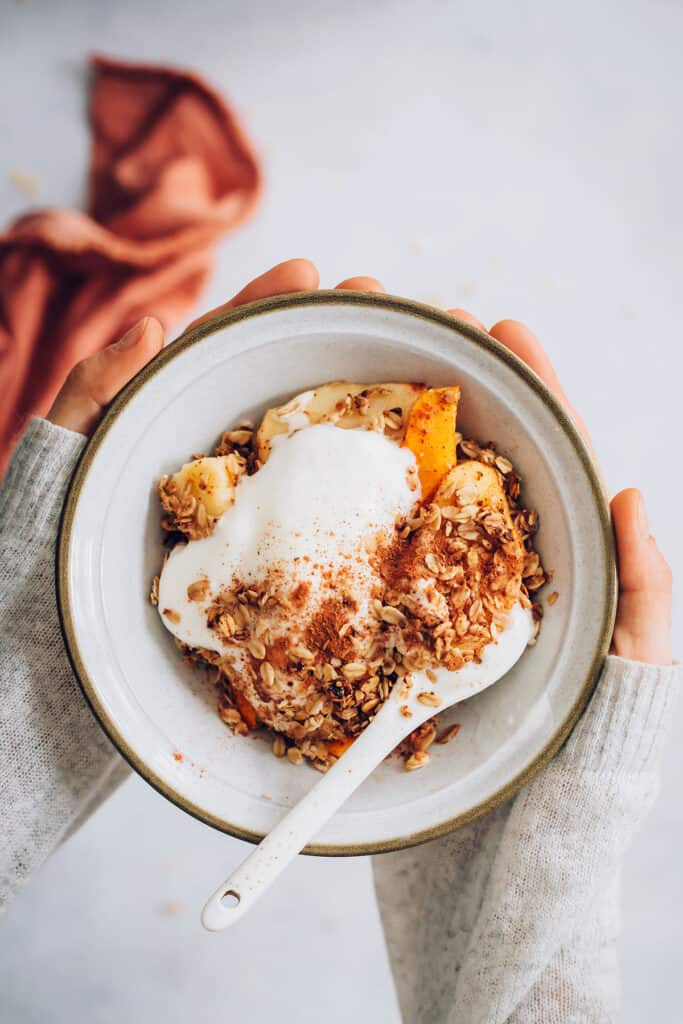 Butternut Squash and Apple Crumble with Whipped Coconut Cream