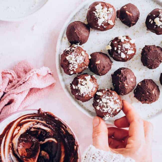 Nutella Truffles with Frangelico