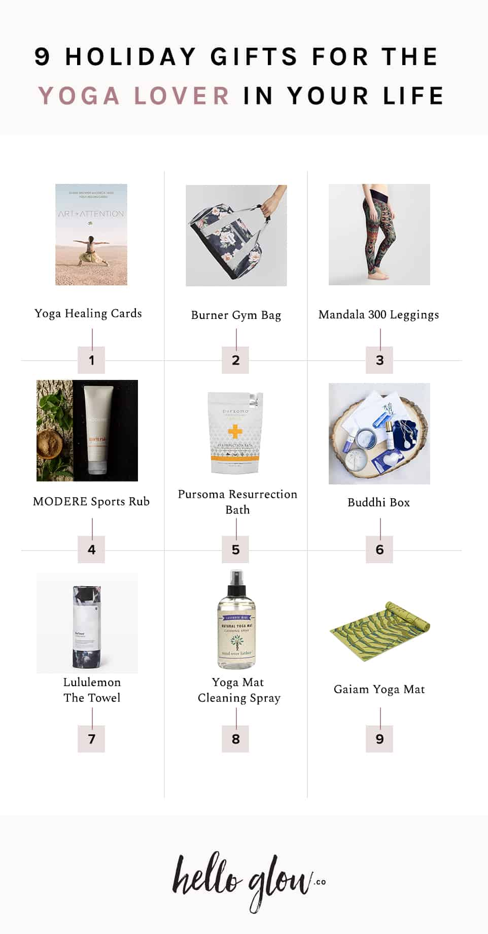 9 Holiday Gifts for the Yoga Lover in Your Life - HelloGlow.co