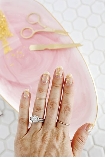 Gold Star Manicure from A Beautiful Mess