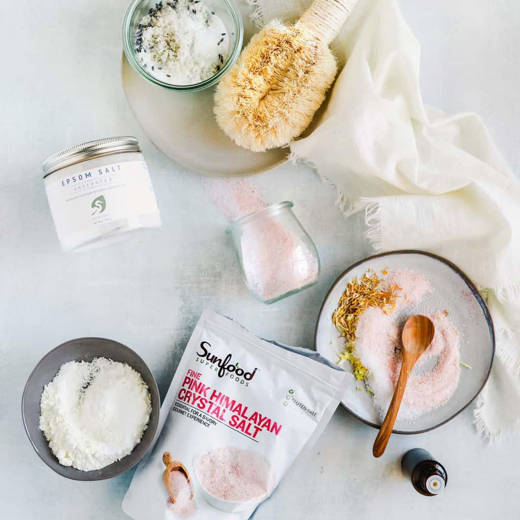 3 Recipes for a Himalayan Salt Bath