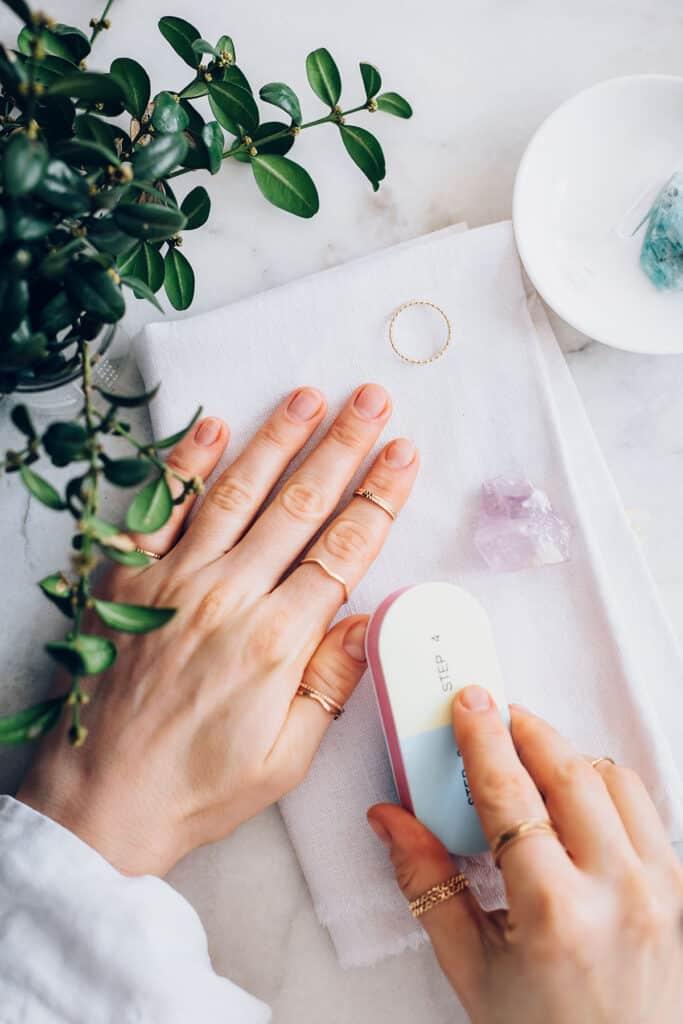 No Polish Manicure Buff Nails