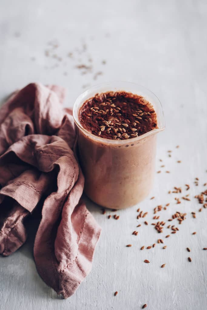 Dark Chocolate Breakfast Milkshake with Probiotics