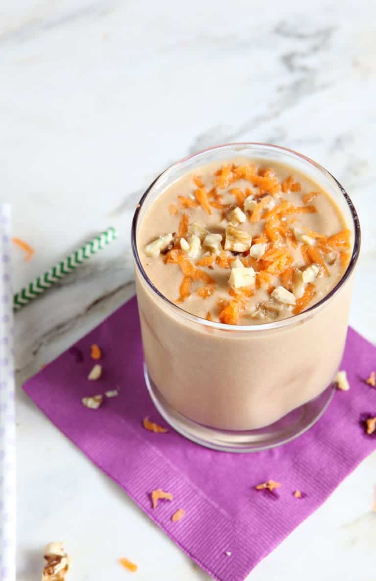Vegan Carrot Cake Smoothie from The Speckled Palate