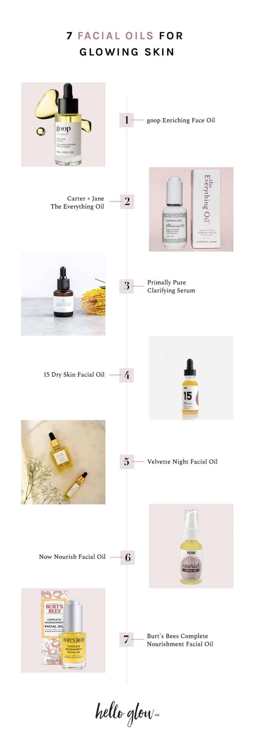 7 Favorite Facial Oils for Glowing Skin - Hello Glow