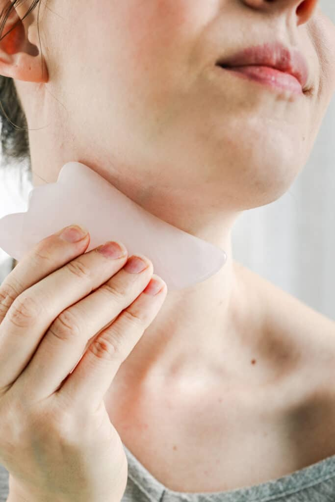 Gua Sha stone neck massage