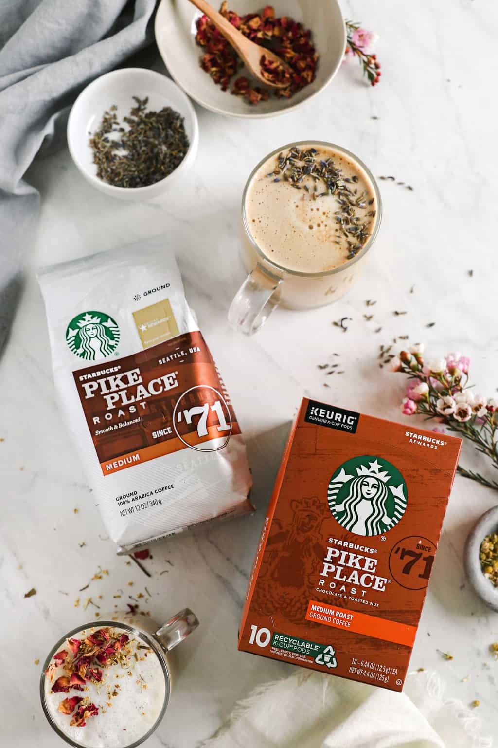 Latte Recipes with Starbucks Pike Place Coffee