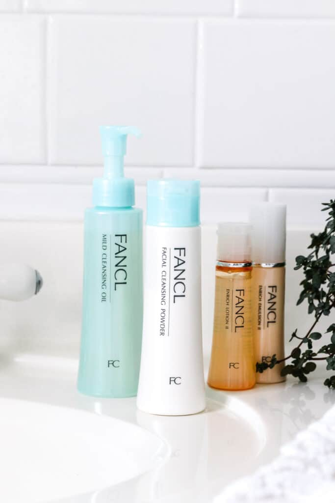 4-Step Fancl Skincare Routine