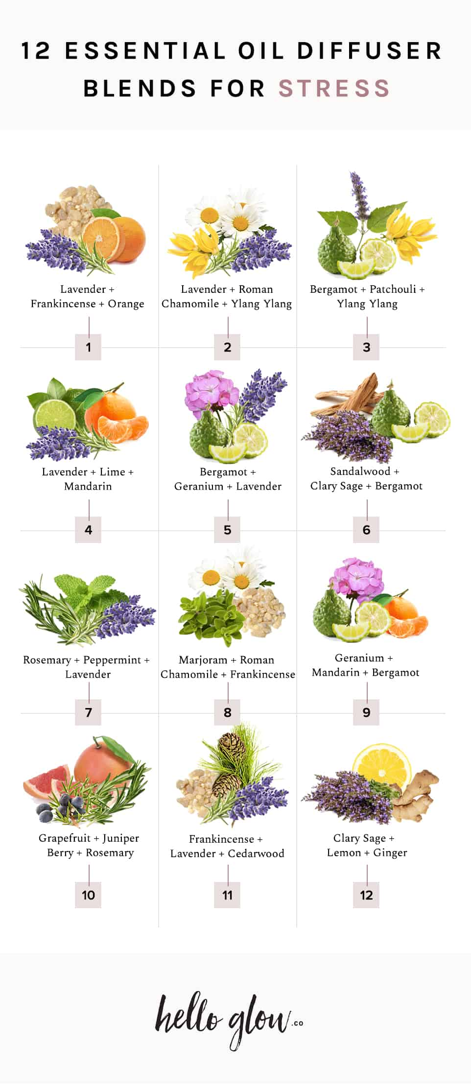 12 Essential Oil Blends for Stress - HelloGlow.co