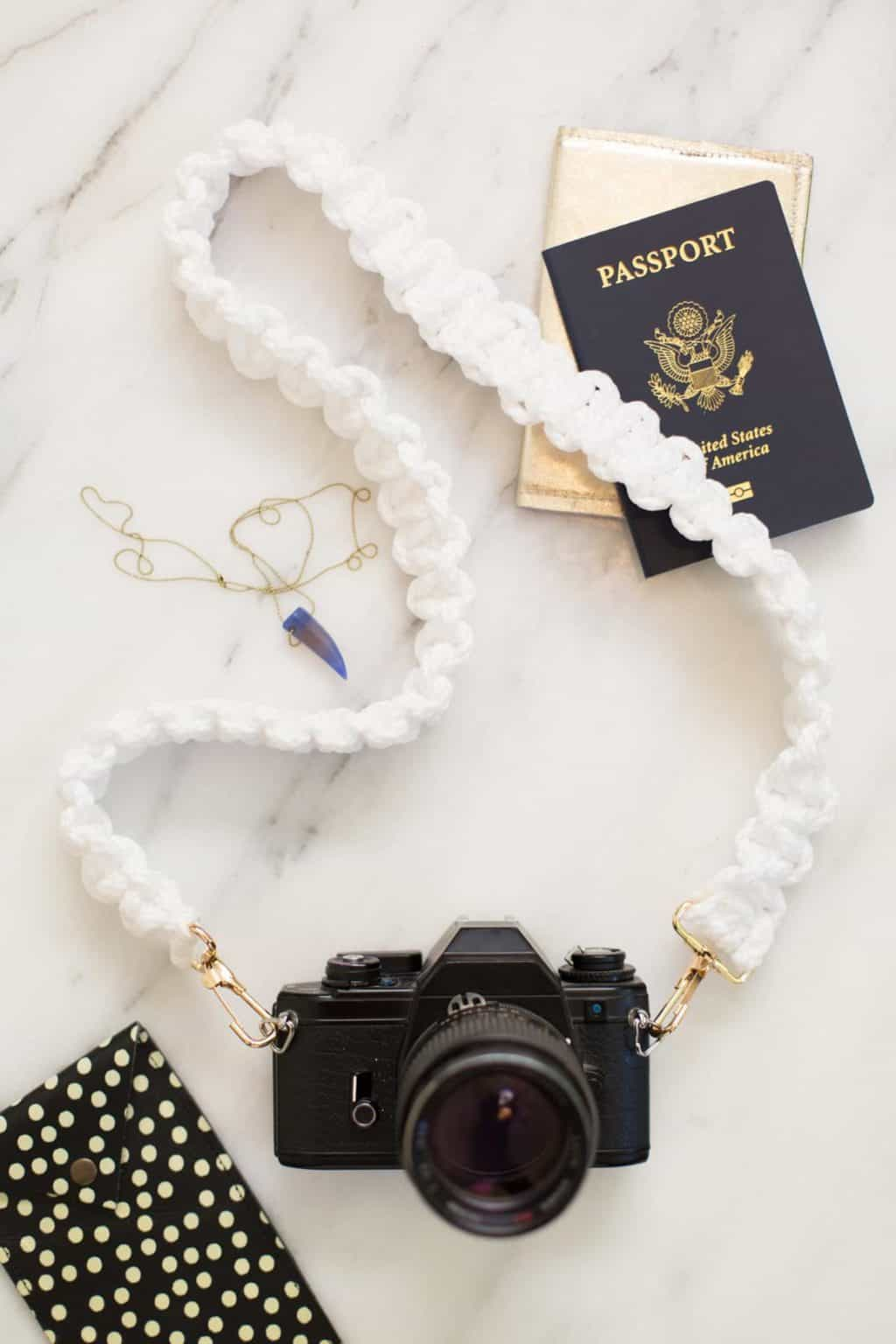 Macrame Camera Strap from Lovely Indeed