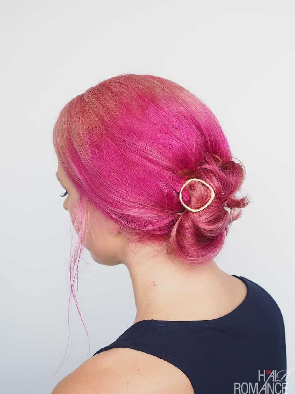 The Round Bun from Style Romance | 10 Go-To Easy Summer Hairstyles on HelloGlow.co