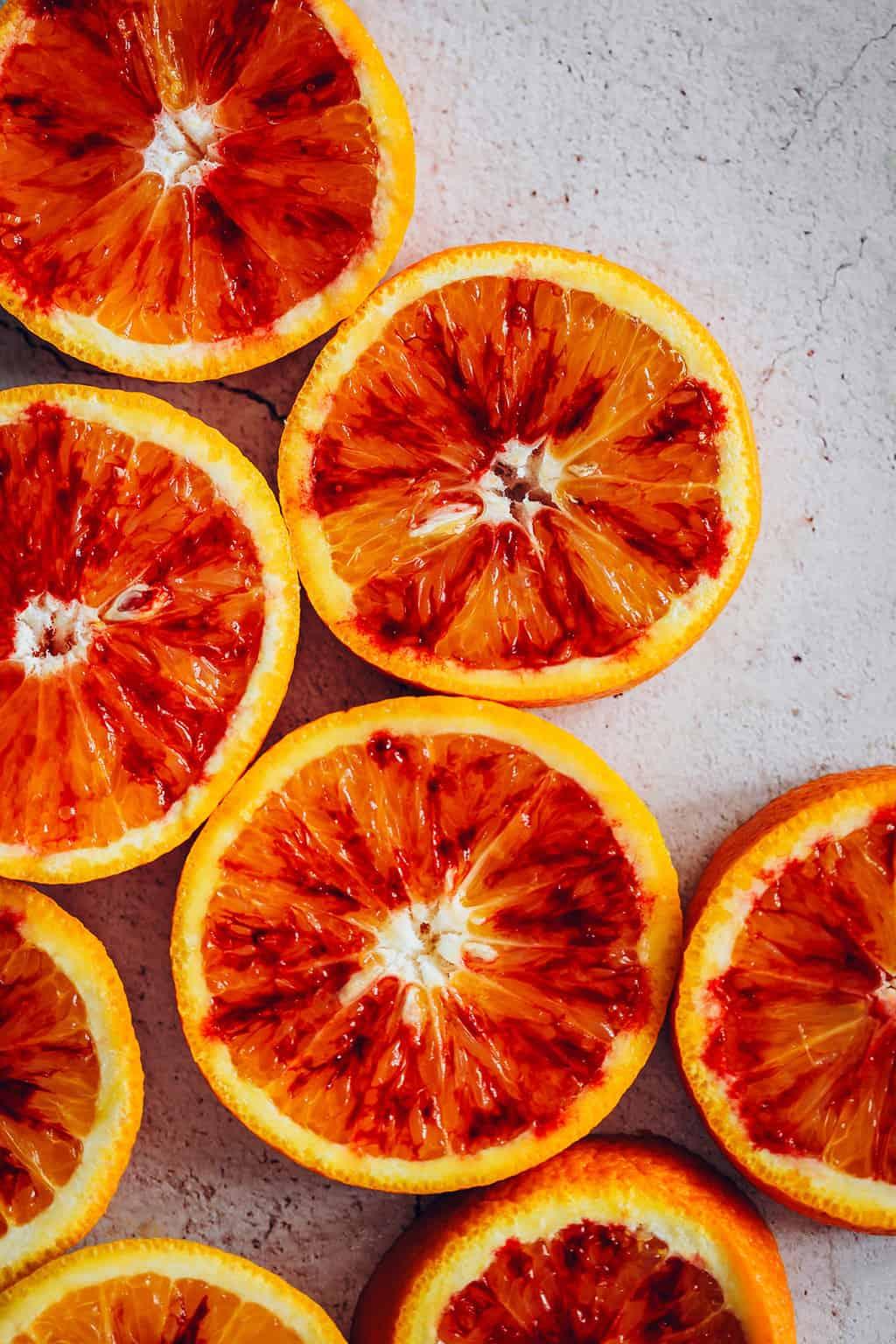 Blood Oranges Sliced