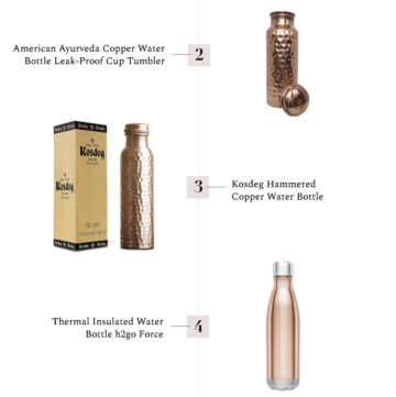 5 Copper Water Bottle Picks - HelloGlow.co