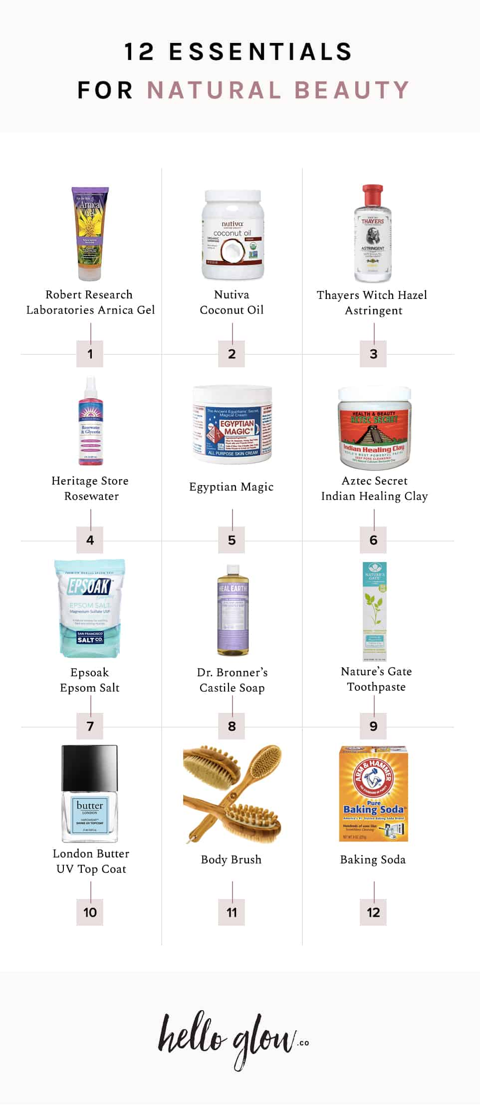 12 Essentials for Natural Beauty - HelloGlow.co