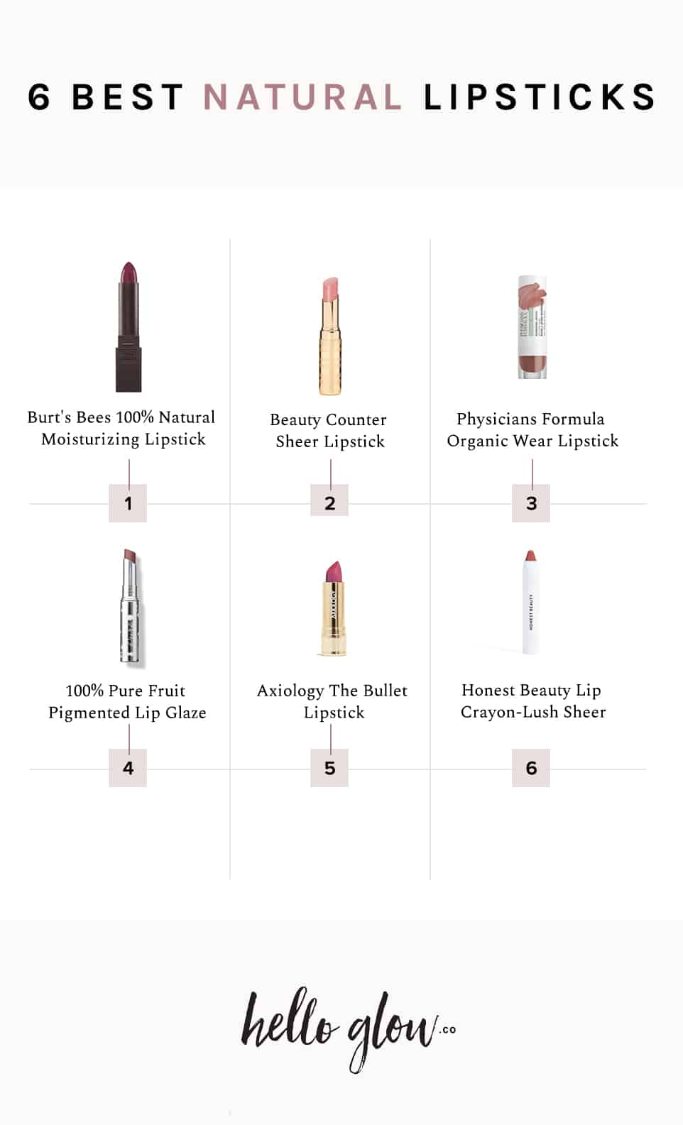 6 Best Natural Lipsticks - HelloGlow.co