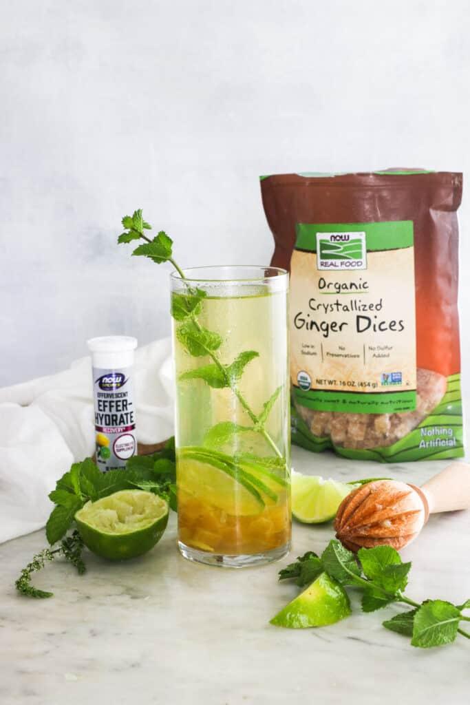 Ginger Citrus Sparkler Electrolyte Drink Recipe
