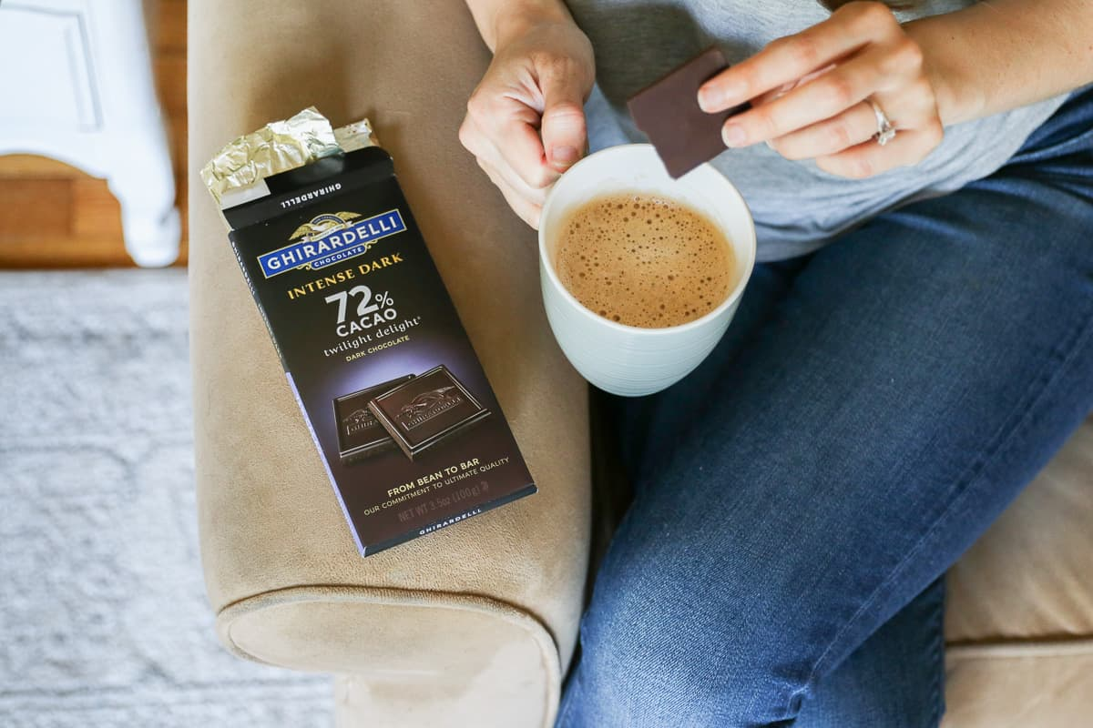 Boost mood with Ghirardelli Intense Dark Chocolate