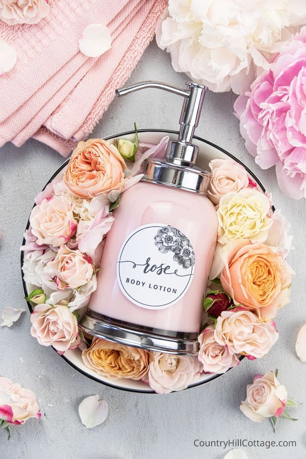 DIY Rose Body Lotion from Country Hill Cottage