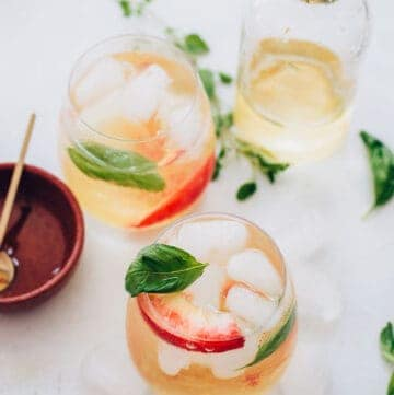 Peach Kombucha Sangria Recipe