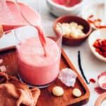 Pink collagen milk