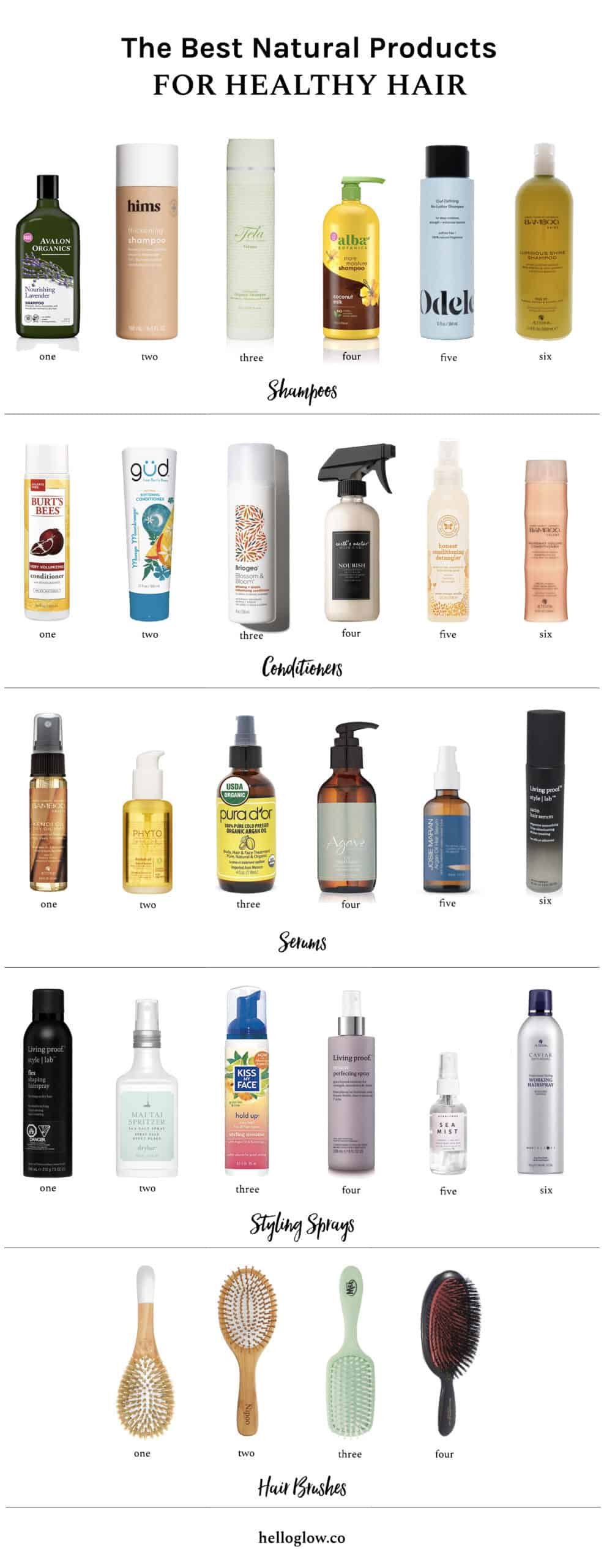 The Best Natural Products for Healthy Hair - HelloGlow.co