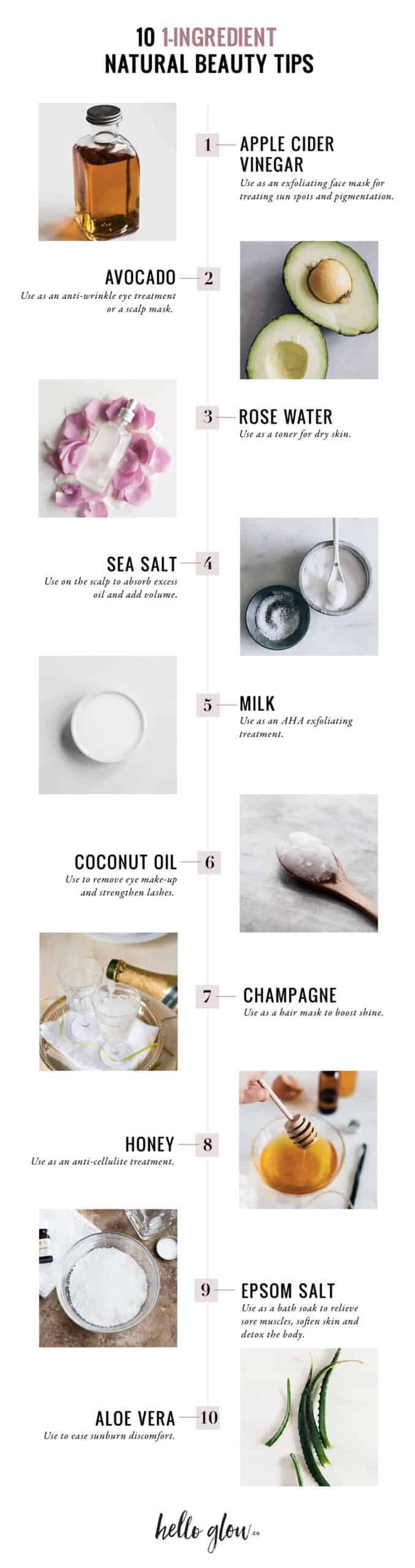10 1-Ingredient Natural Beauty Tips - HelloGlow.co