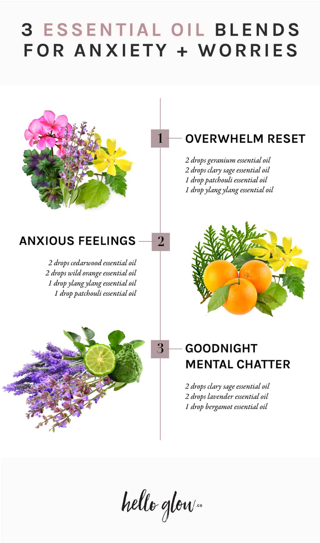 3 Essential Oil Blends for Anxiety and Worries - HelloGlow.co