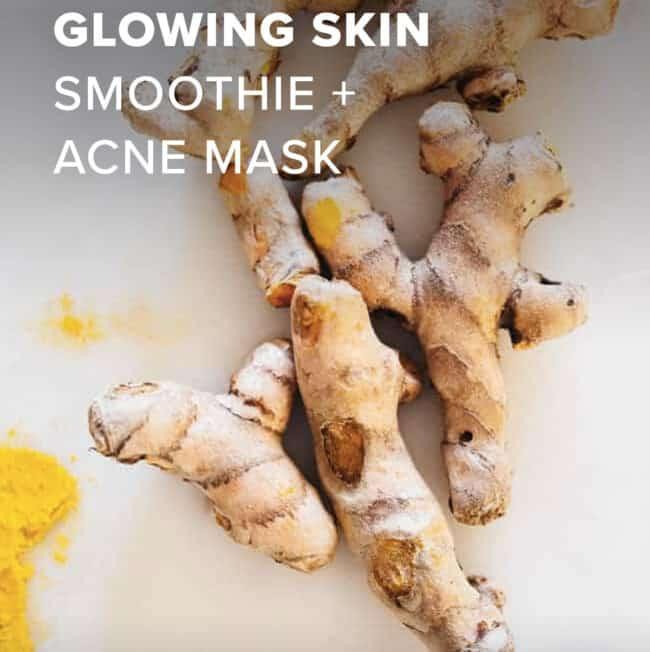 Turmeric Glowing Skin Smoothie + Acne Mask - Hello Glow