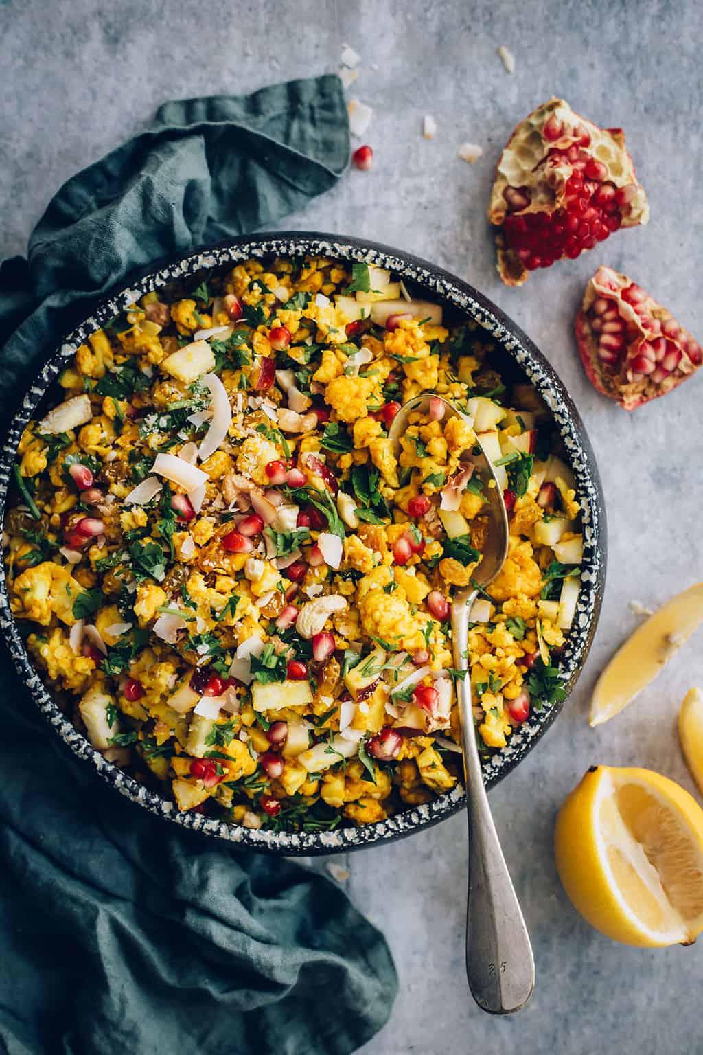 Nasi Kembang Kol Hangat dengan Santan dari Hello Veggie