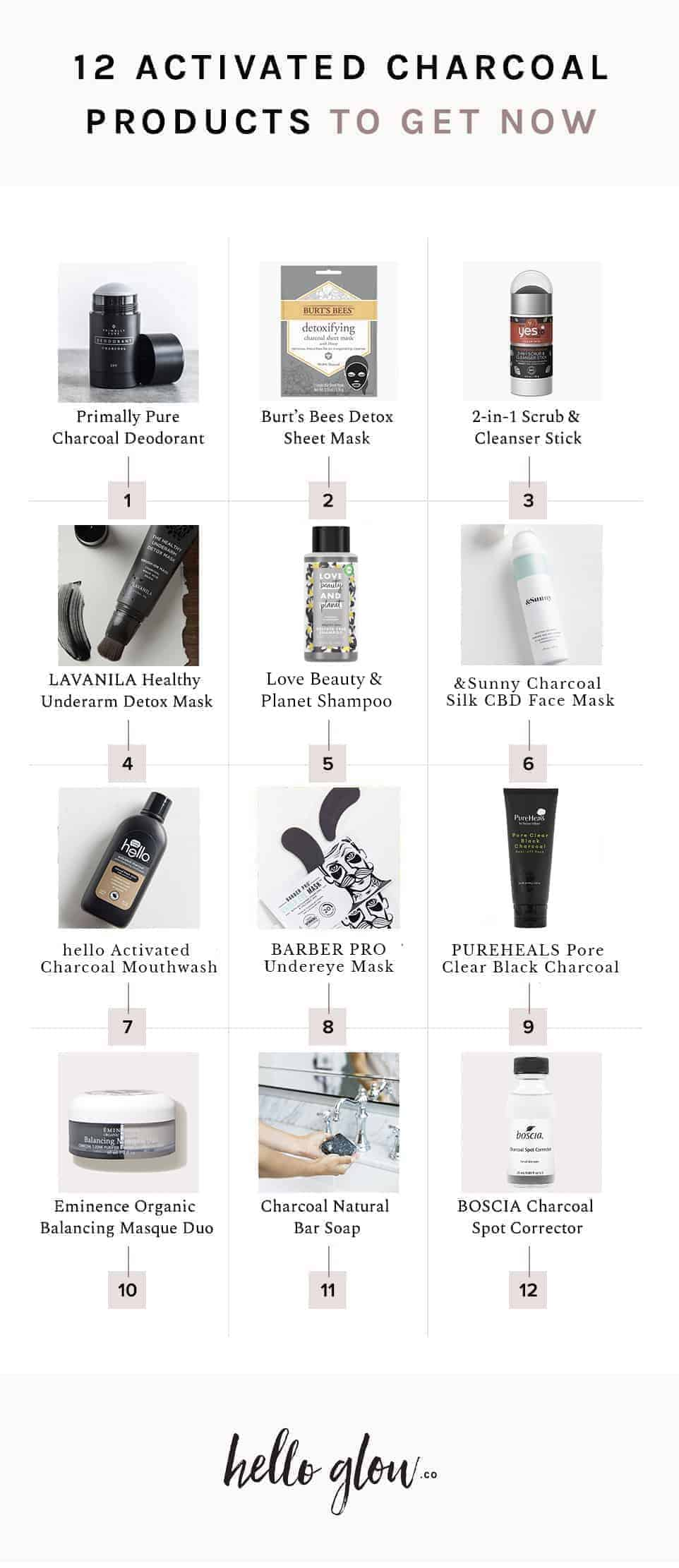 12 Activated Charcoal Products to Try Now - HelloGlow.co