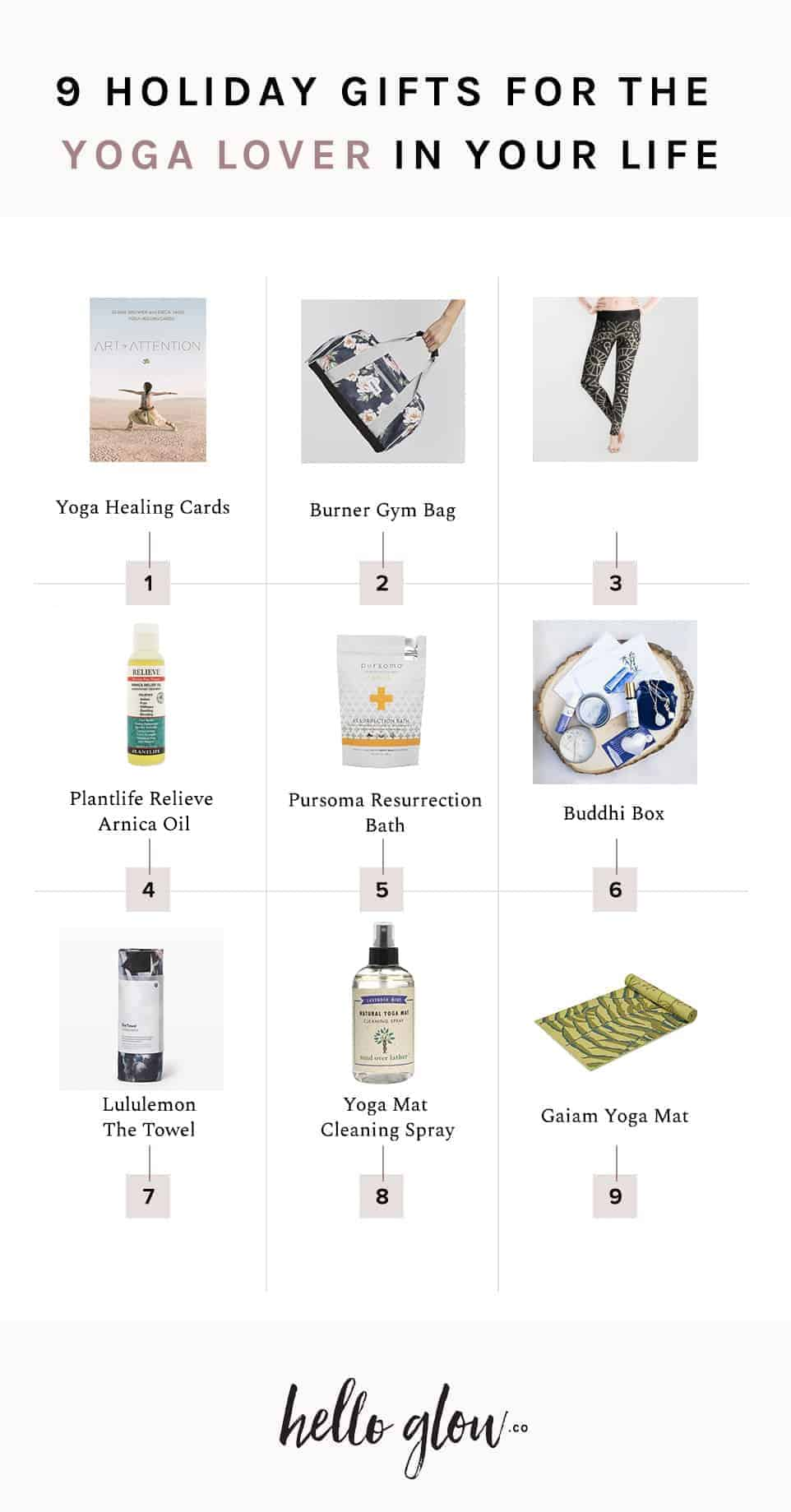 9 Gifts for the Yoga Lover - HelloGlow.co