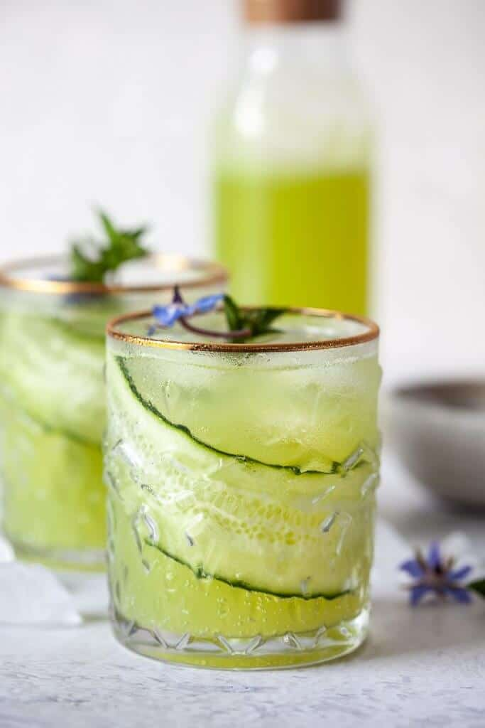 Cucumber lime mocktail from Vibrant Plate