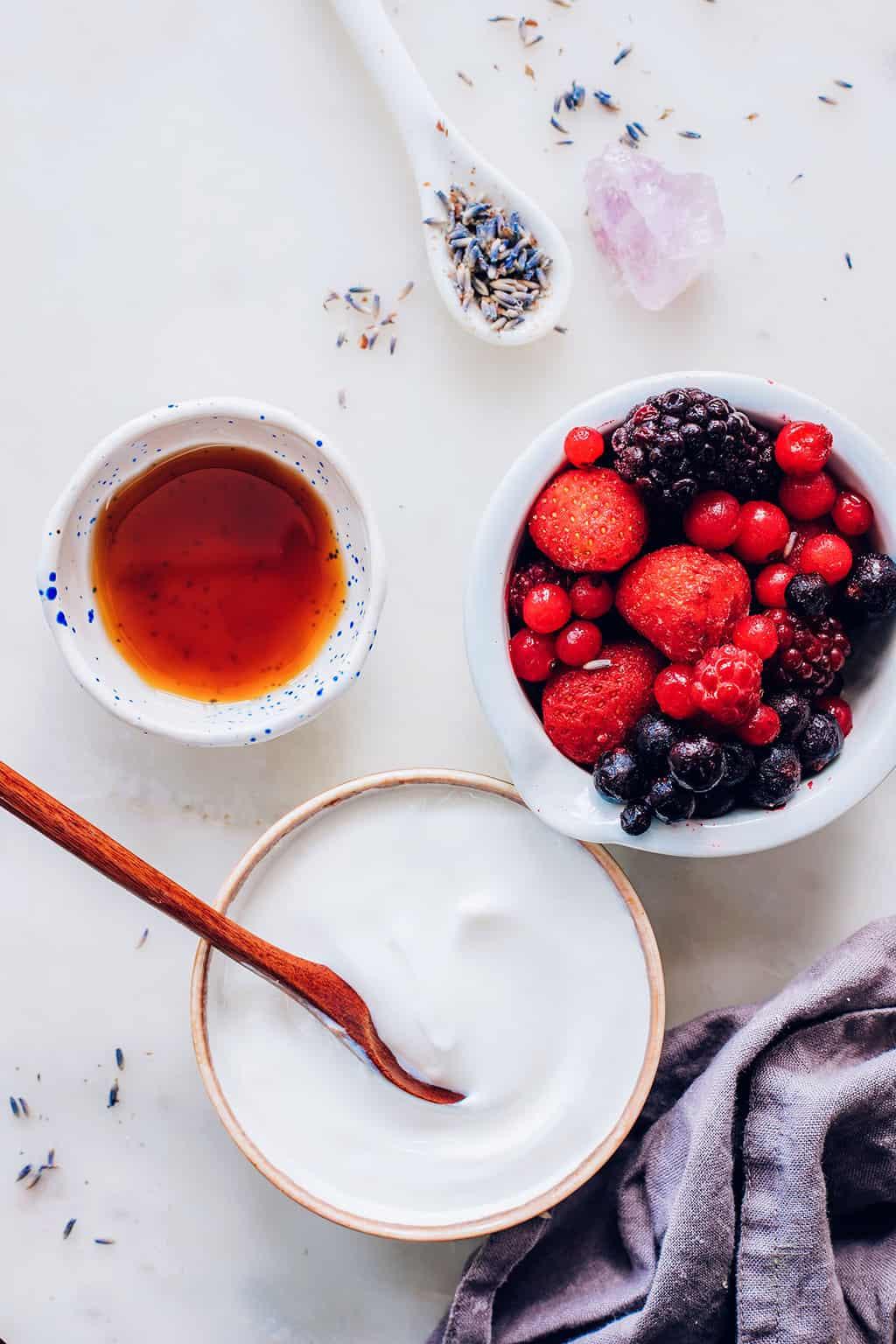 Ingredients for Coconut Yogurt Smoothie Recipe