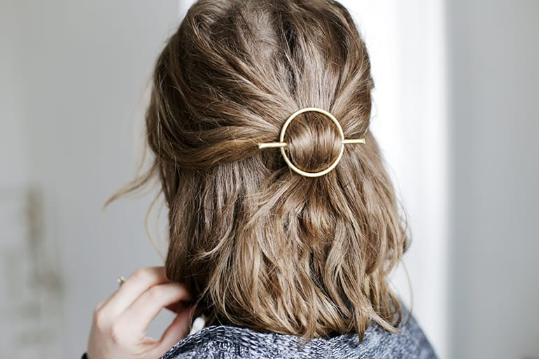 DIY Brass Circle Barrette - The Merrythought