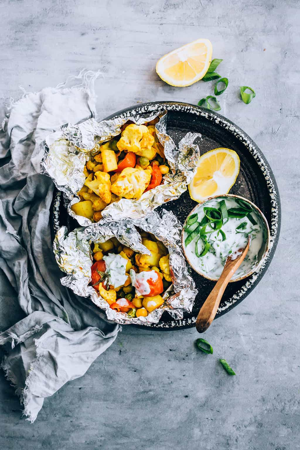 Curry cauliflower packets by Hello Veggie