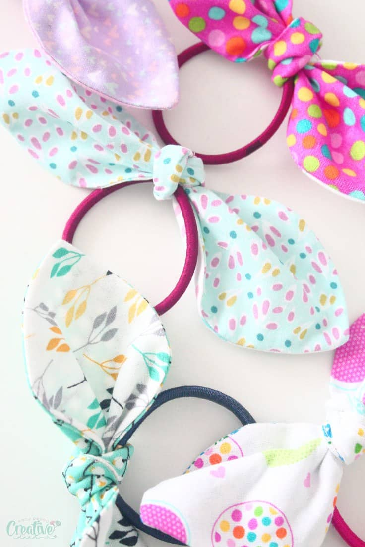 Knotted Hair Ties - Easy Peasy Creative