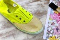 DIY Floral Canvas Shoes