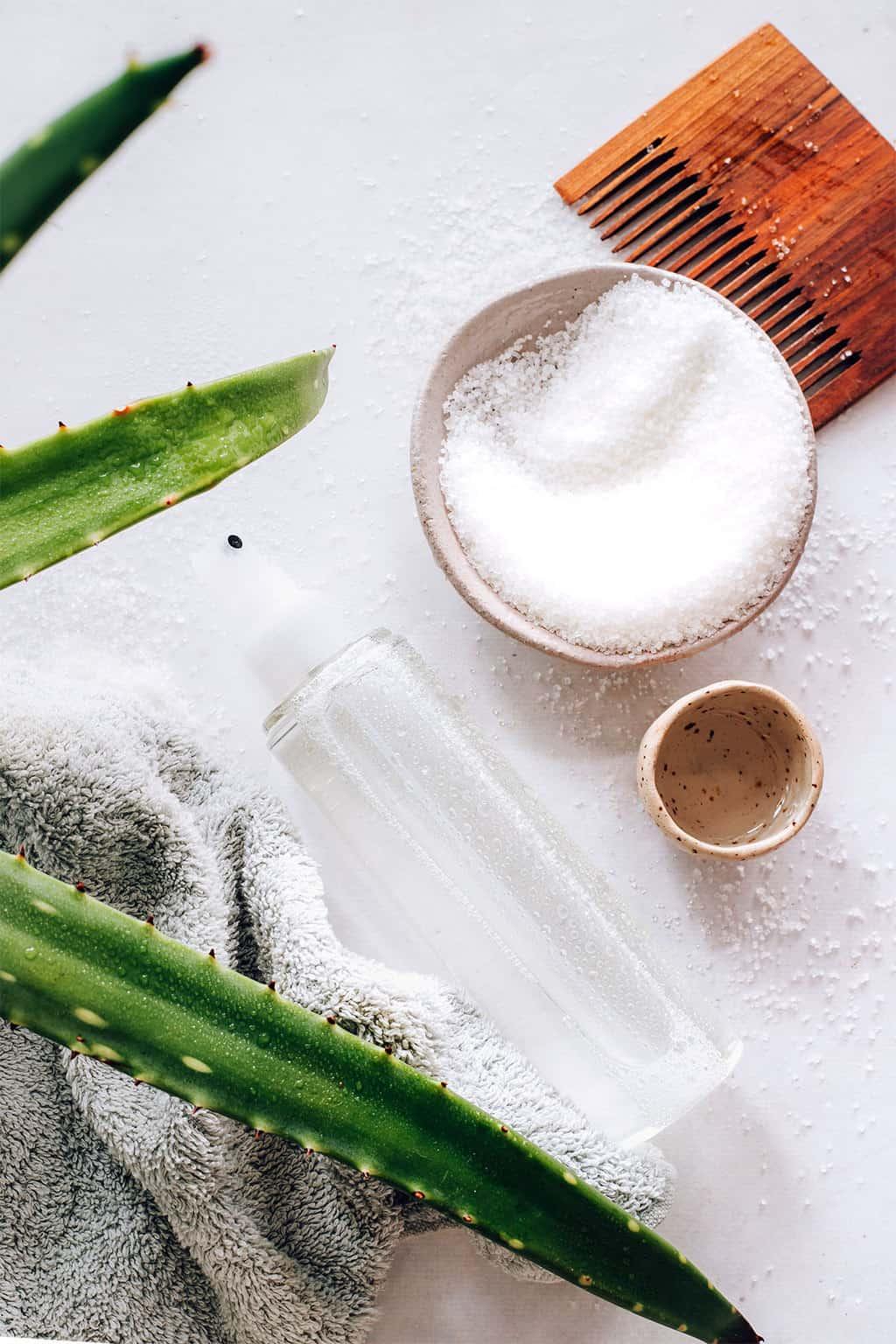 How to make a salt spray and a sugar spray for hair