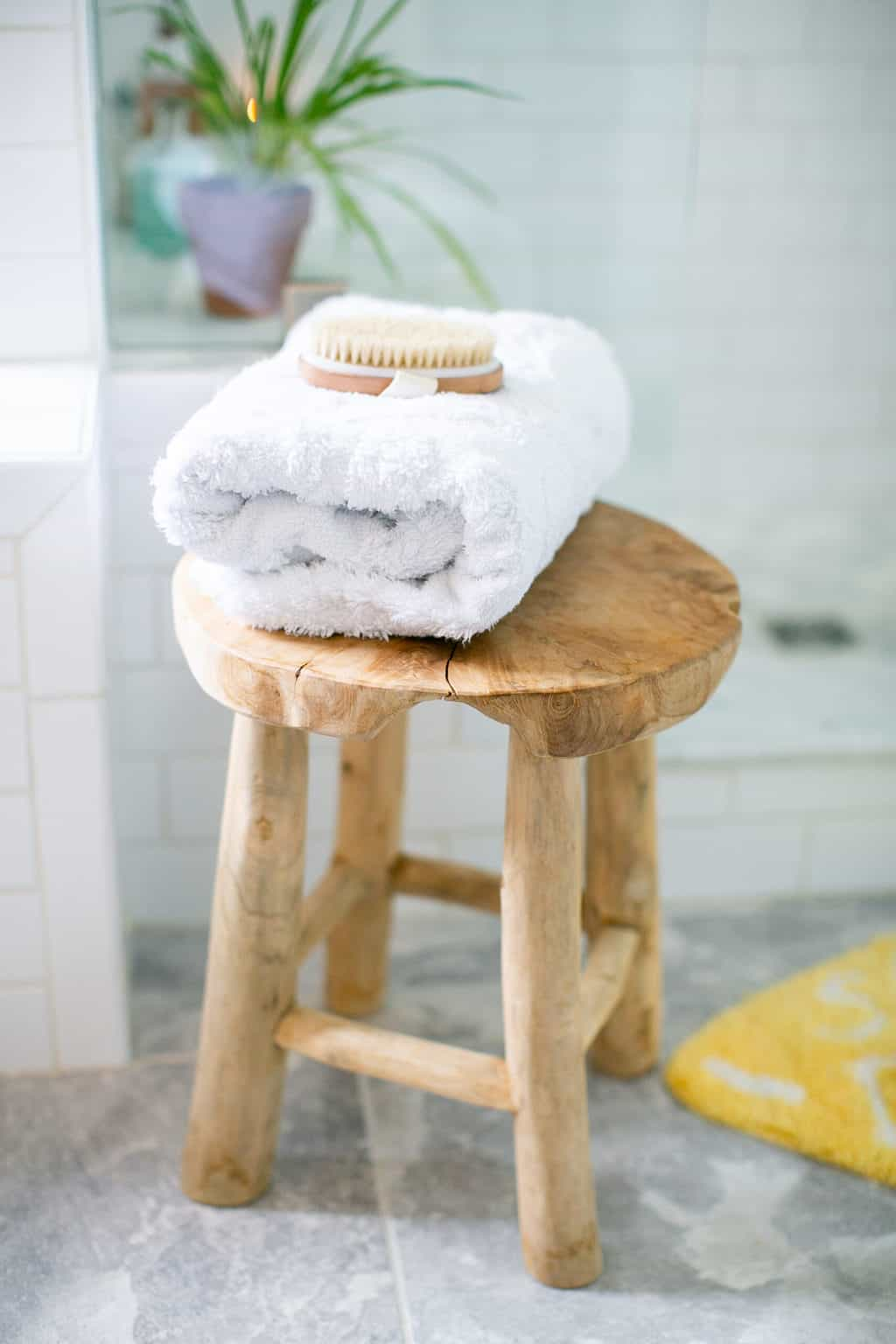 Upgrade your towel & mat for a shower oasis
