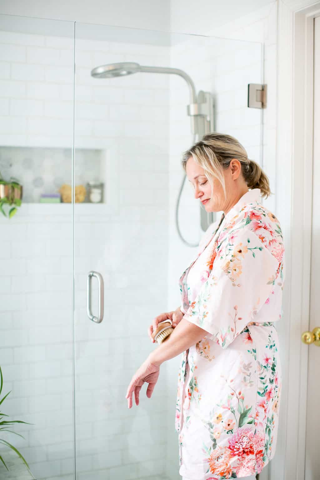 A shower feels more like self-care when you slow down and enjoy the process